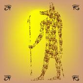 Anubis form — Stockvektor
