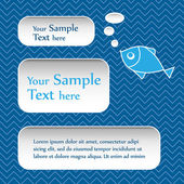 Abstract text bubbles — Stock Vector