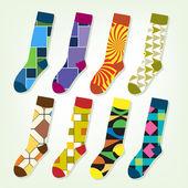 Funny retro socks — Stock Vector
