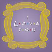 我爱你卡上紫色 — 图库矢量图片
