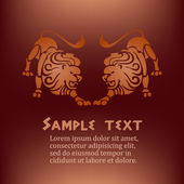 Lion shapes with text — Stock Vector