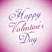 Pink Happy Valentine's day card — Stock Vector