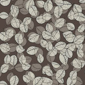 Leaves pattern on brown — Stock Vector