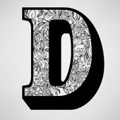 Letter D - Ornamental Initial — Stock Vector