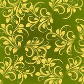 绿色和黄色装饰 — 图库矢量图片