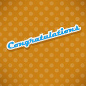 Congratulations card with dots — Stock Vector