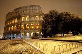 Colosseum in snow — Stock Photo