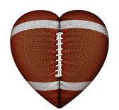 Heart Football — Stock Photo