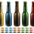 Frosted Beer Bottles — Stock Photo #22291343