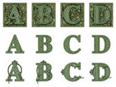 Money Alphabet A to E — Stock Photo