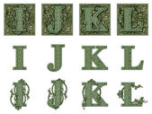 Money Alphabet I to L — Stock Photo