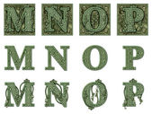 Money Alphabet M to P — Stock Photo