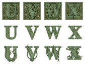 Money Alphabet U to X — Stock Photo