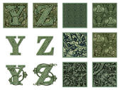 Money Alphabet Y to Z — Stock Photo