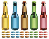 Labeled Beer Bottles — Stock Photo