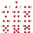 Heart Playing Cards — Stock Photo