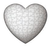 White Puzzle Heart — Stock Photo