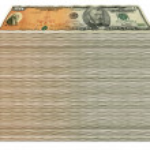 Savings Bond to Fifty Stack — Stock Photo