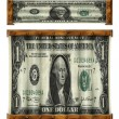 Stock Photo: Stretched Dollars
