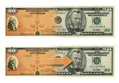 Savings Bond Fifty Morph — Stock Photo