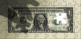 Dollar Puzzle Missing Piece — Stock Photo