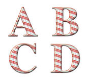 Candy Cane Alphabet — Stock Photo