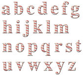 Candy Cane Alphabet — Foto Stock