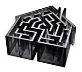 House Maze — Stock Photo