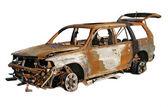 燃え尽きた車 — ストック写真