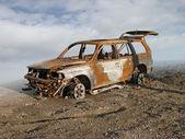 сгорел автомобиль — Стоковое фото