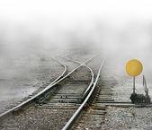 Train Tracks Split — Stock Photo