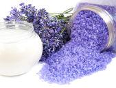 Lavender cosmetic — Stock Photo