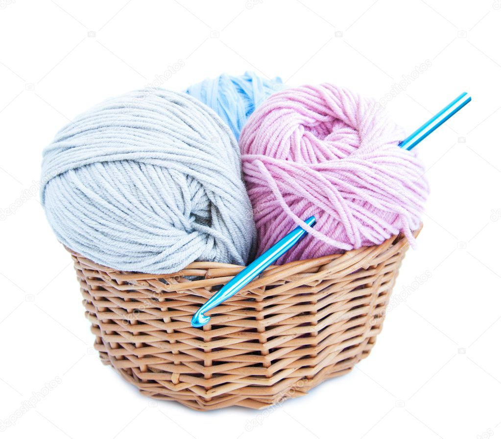 Crocheting Vector : Crochet Hook Vector Crochet hook and yarn - stock image