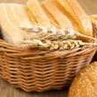 Still life with breads — Stock Photo