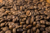 Background from coffee grains — Stock Photo