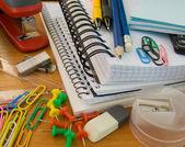 Skolan kontorsmaterial — Stockfoto
