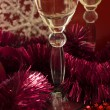 Christmas champagne — Stock Photo