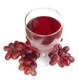 Glass of Red Grape Juice — Stock Photo