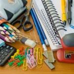 School office supplies — Stock Photo #13385475