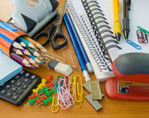 School office supplies — Stok fotoğraf