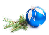 Christmas Pine and Bauble — Stockfoto