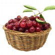 Stock Photo: Cherries in a basket