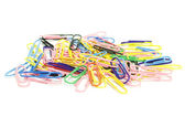 Colorfull paperclips — Stockfoto