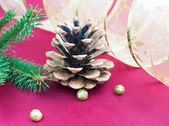 Pine Cones and Needles — Stock Photo