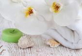 Bath and spa accessories — Stock Photo