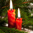 Christmas candles — Stock Photo #16236455