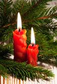 Velas de natal. — Foto Stock