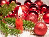 Kerst kaars — Stockfoto