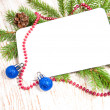 Christmas card with decorations — Stock Photo #16262051