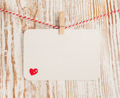 Card with heart — Stock Photo